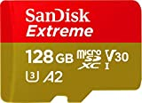 SanDisk 128GB Extreme microSDXC UHS-I Memory Card with Adapter - C10,...
