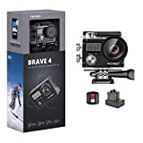 AKASO Brave 4 4K 20MP WiFi Action Camera Ultra HD with EIS 30m...