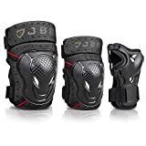 JBM Youth BMX Bike Knee Pads and Elbow Pads with Wrist Guards...